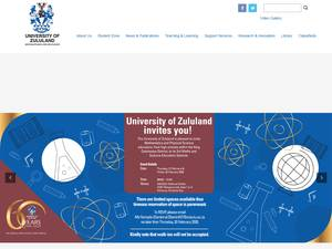 University of Zululand's Website Screenshot