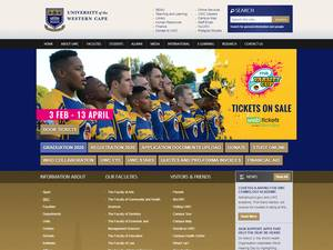 University of the Western Cape's Website Screenshot