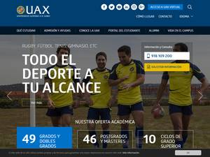 Universidad Alfonso X el Sabio's Website Screenshot