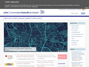 Universidad Carlos III de Madrid's Website Screenshot