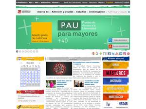 Universidad Miguel Hernández de Elche's Website Screenshot