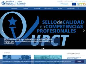 Universidad Politécnica de Cartagena's Website Screenshot