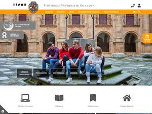 Universidad Pontificia de Salamanca's Website Screenshot
