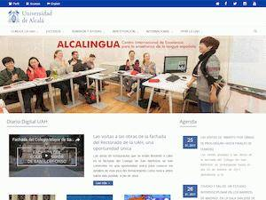 Universidad de Alcalá's Website Screenshot