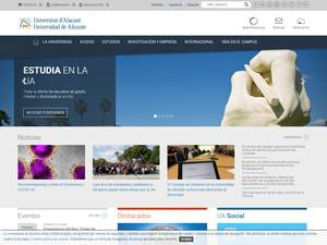 Universidad de Alicante's Website Screenshot
