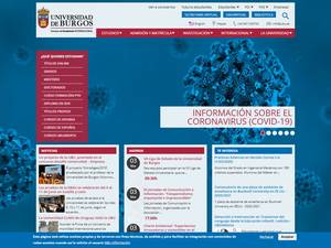 Universidad de Burgos's Website Screenshot