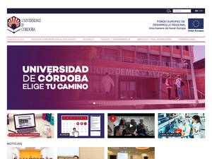 Universidad de Córdoba's Website Screenshot