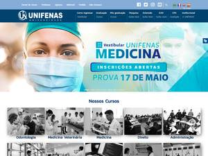 Universidade José do Rosário Vellano's Website Screenshot