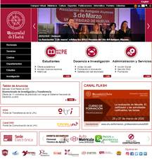 Universidad de Huelva's Website Screenshot