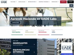 Universidad Argentina de la Empresa's Website Screenshot