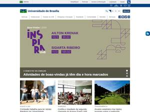 Universidade de Brasília's Website Screenshot