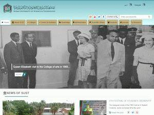 Sudan University of Science and Technology's Website Screenshot
