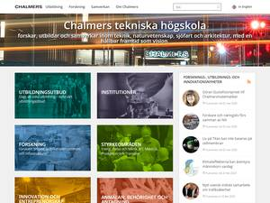 Chalmers tekniska högskola's Website Screenshot