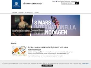 Göteborgs universitet's Website Screenshot