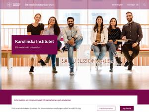 Karolinska Institutet's Website Screenshot