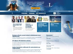 Luleå tekniska Universitet's Website Screenshot