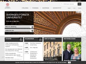 Uppsala University's Website Screenshot