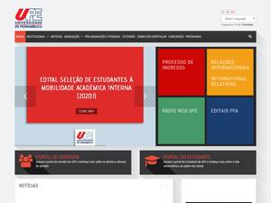 Universidade de Pernambuco's Website Screenshot