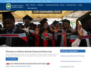 Hubert Kairuki Memorial University's Website Screenshot