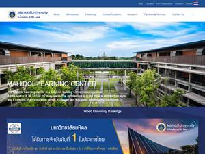 Mahidol University's Website Screenshot