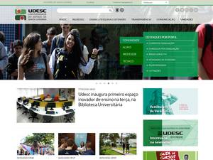 Universidade do Estado de Santa Catarina Screenshot