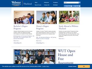 Webster University Thailand's Website Screenshot