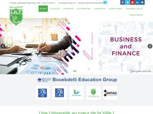 Université Libre de Tunis's Website Screenshot