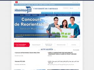 Université de Carthage's Website Screenshot