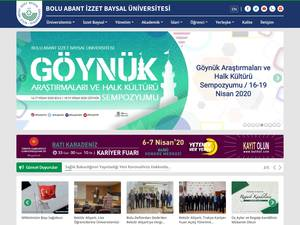 Abant Izzet Baysal Üniversitesi's Website Screenshot