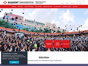 Baskent Üniversitesi's Website Screenshot