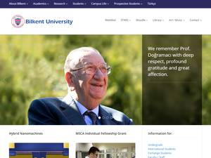 Bilkent University's Website Screenshot