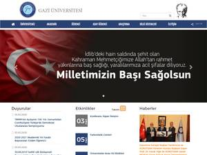 Gazi Üniversitesi's Website Screenshot