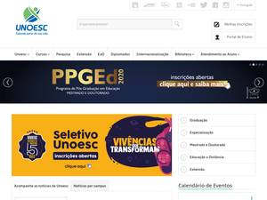 Universidade do Oeste de Santa Catarina's Website Screenshot