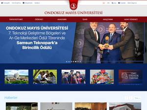 Ondokuz Mayis Üniversitesi's Website Screenshot
