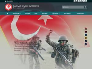 Süleyman Demirel Üniversitesi's Website Screenshot