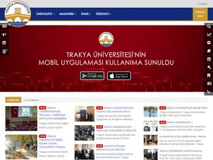 Trakya Üniversitesi's Website Screenshot
