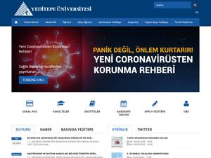Yeditepe Üniversitesi's Website Screenshot