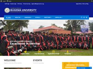 Bugema University's Website Screenshot