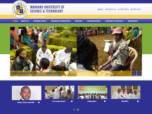 Mbarara University of Science and Technology's Website Screenshot