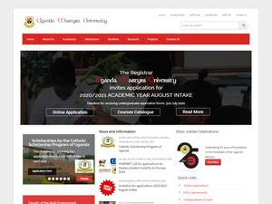 Uganda Martyrs University's Website Screenshot