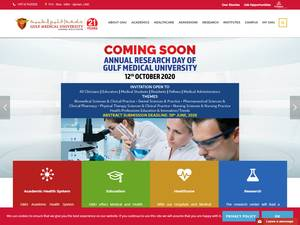 Gulf Medical University's Website Screenshot
