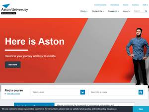 Aston University's Website Screenshot