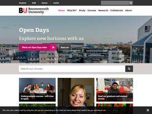 Bournemouth University's Website Screenshot