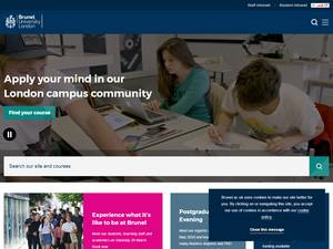 Brunel University London's Website Screenshot