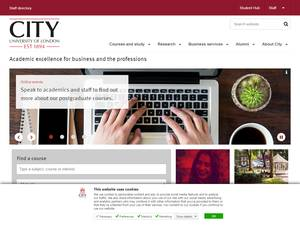 City, University of London's Website Screenshot