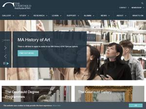 The Courtauld Institute of Art, University of London's Website Screenshot