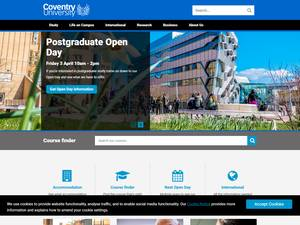 Coventry University's Website Screenshot