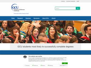 Glasgow Caledonian University Screenshot