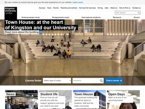 Kingston University's Website Screenshot