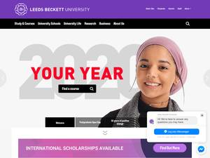 Leeds Beckett University's Website Screenshot